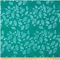 Indian Batik Leaf & Vine Small Leaf Aqua