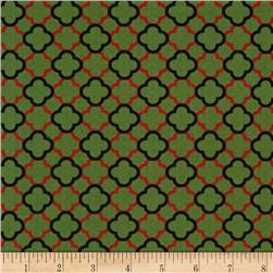 Traditional Holiday Geometric Green