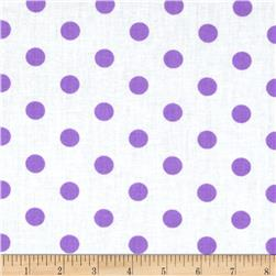 Spot On II Polka Dots White/Lavender