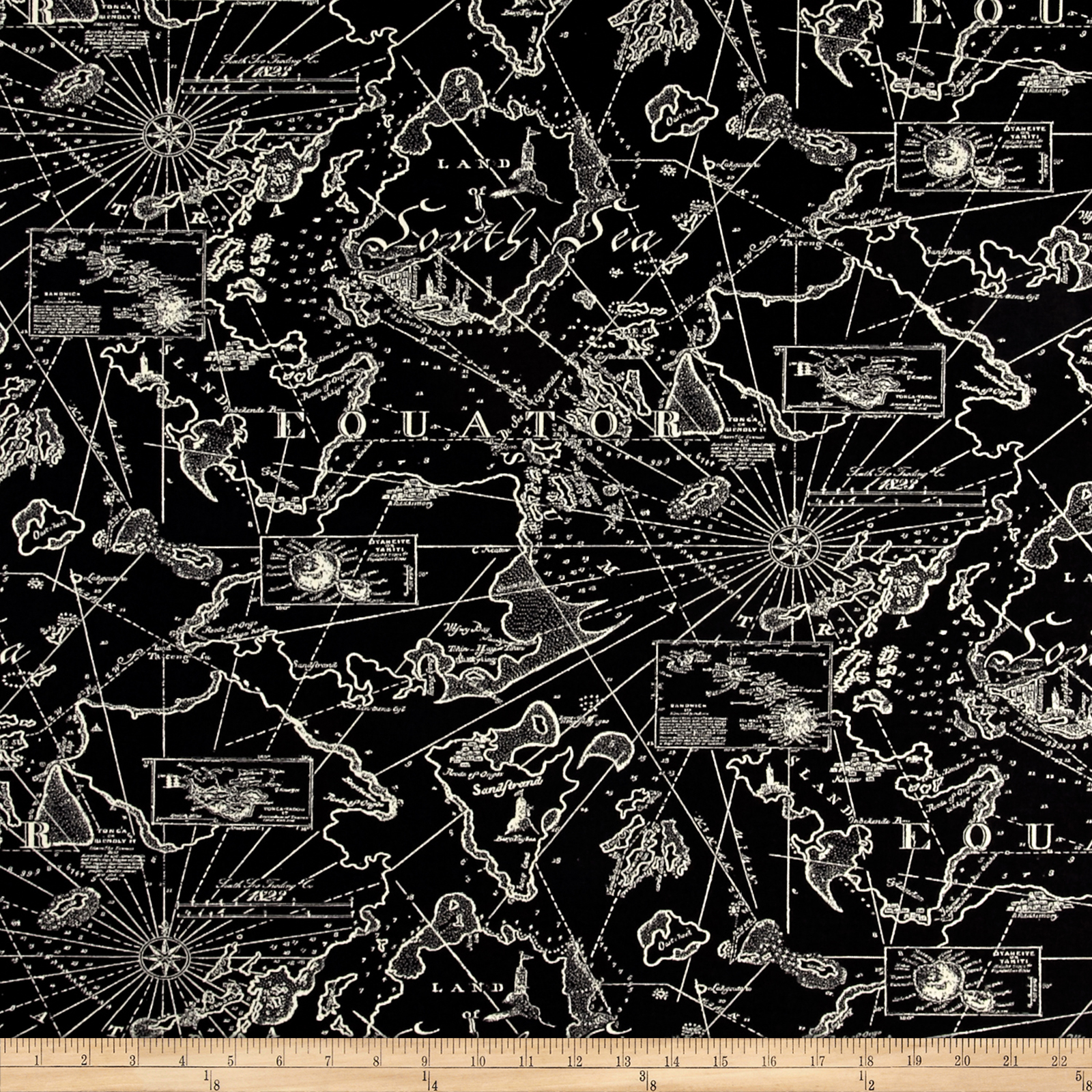 Tommy Bahama Indoor/Outdoor South Seas Ebony Fabric by Waverly in USA