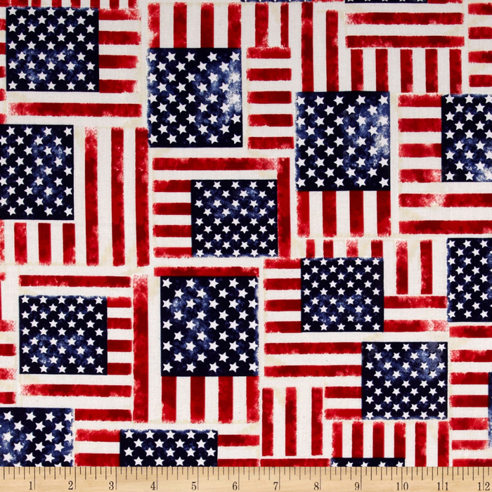 Hero Dogs USA Flag Fabric