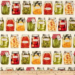 Robert Kaufman Kiss the Cook Canning Jars Cream