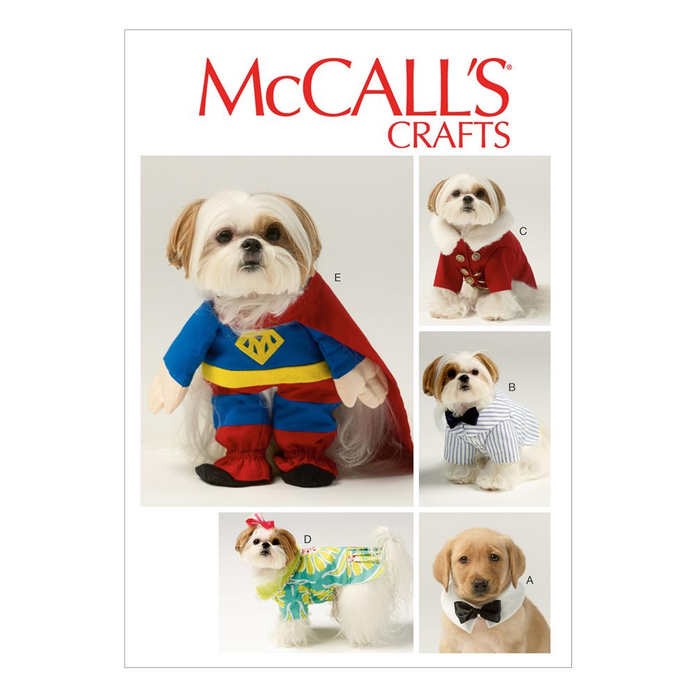 McCall's Pet Clothes and Costume Pattern M6862 Size OSZ