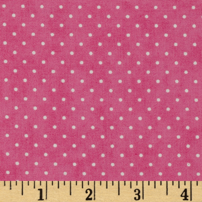 Moda Essential Dots (# 8654-36) Bubble Gum Fabric