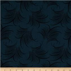 Downton Abbey Lady Mary Feather Print Navy