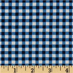 Gingham Blue/Black
