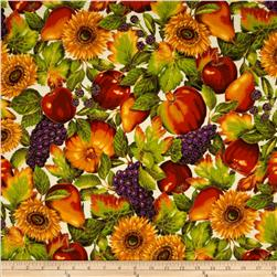 Shades of the Season 6 Metallic Autumn Fruits & Leaves Harvest Cream
