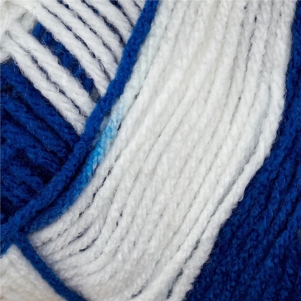 Red Heart Team Spirit Yarn (947) Royal/White