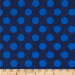 Singin' the Blues Jumbo Dots Navy/Royal Fabric