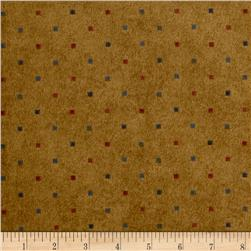 Folk Art Flannels Multi Dot Gold