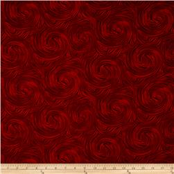Timeless Treasures Skinny Barns Swirl Texture Red