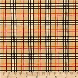 Moda Welcome Fall Plaid Acorn Tan-Black
