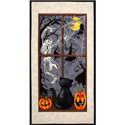 Dancing in the Shadows 24 In. Halloween Panel Multi