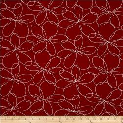 Daily Zen Flower Claret Red