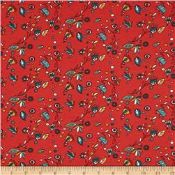 Birch Organic Knit Picnic Whimsy Breezy Floral Red