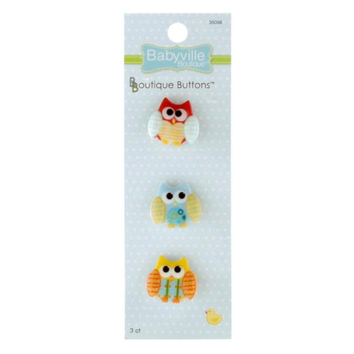 Babyville Boutique Buttons Owl