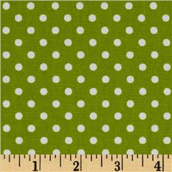 Premier Prints Dottie Chartreuse/White Fabric