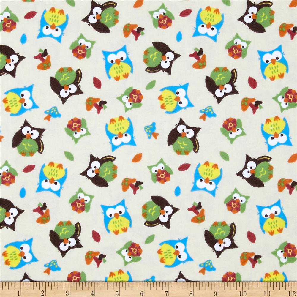 Bright Owl Flannel Patches Tan
