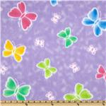 Wonderama Fleece Butterflies Purple