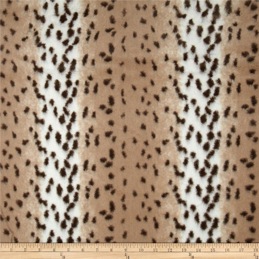Shannon Minky Soft Cuddle Snow Leopard Ivory/Beige