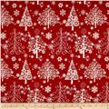 Sparkle Metallic Christmas Trees Red