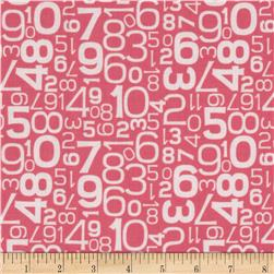 Riley Blake Gracie Girl Numbers Pink