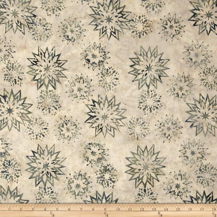 Timeless Treasures Tonga Batik Snowflake Mix Frost
