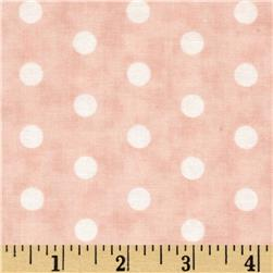 Moda Whitewashed Cottage Faded Dots Rose