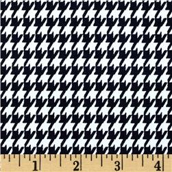 Cotton Twill Small Houndstooth Black/White