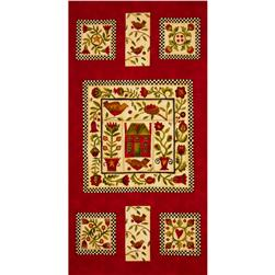 Moda Round Robin Panel Poppy Red