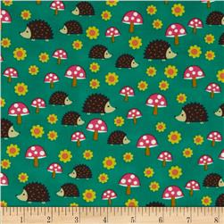 Michael Miller Norwegian Woods Too Hedgehoglets Teal