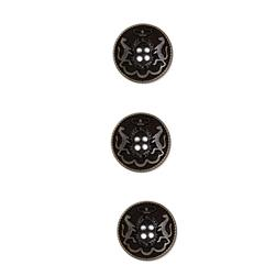 Metal Button 5/8'' Armee Militare Black Metal