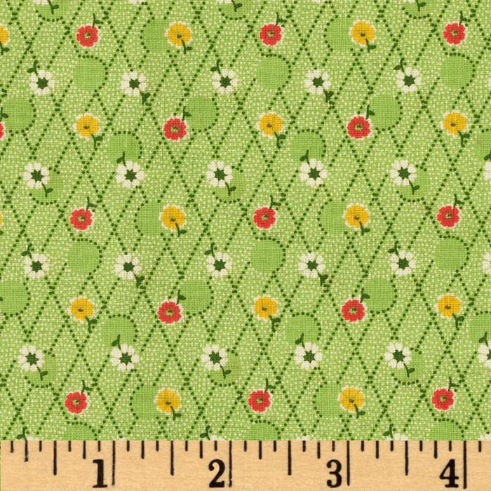 Aunt Grace Miniatures Flower Trellis Green