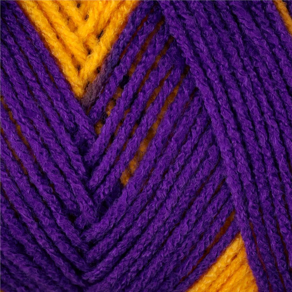 Red Heart Team Spirit Yarn (956) Purple/Gold