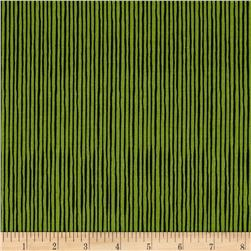 Loralie Sew Creative Quirky Pinstripe Green/Black
