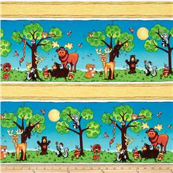 Forest Friends Border Stripe Multi Fabric