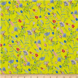 Liberty of London Regent Silk Chiffon Temptation Meadow Yellow/Pink/Blue
