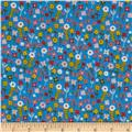 Village Green Small Floral Blue