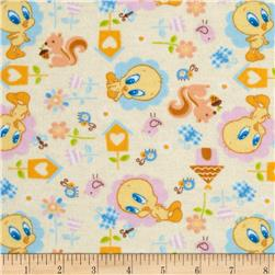 Baby Tweety Flannel Nature Lover Cream