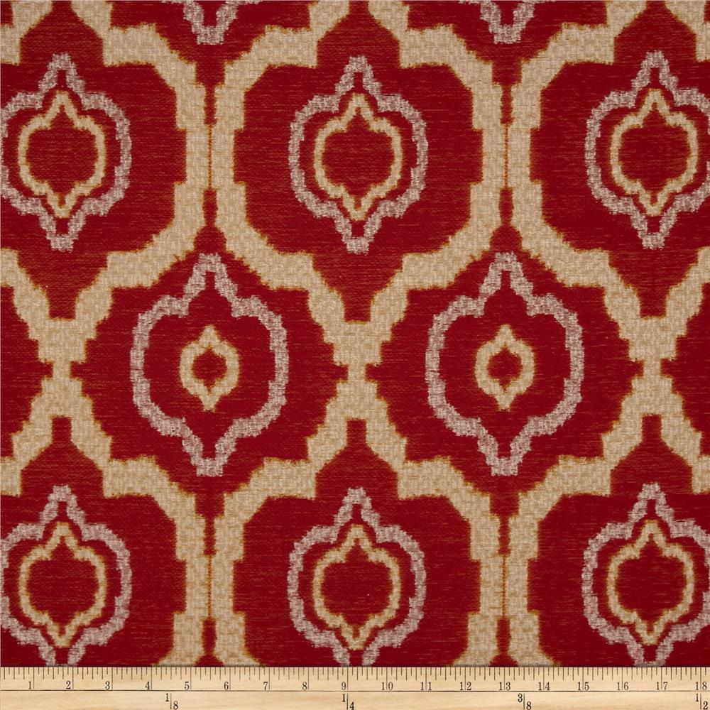 Kaslen pharoah jacquard red gold discount designer for Jacquard fabric