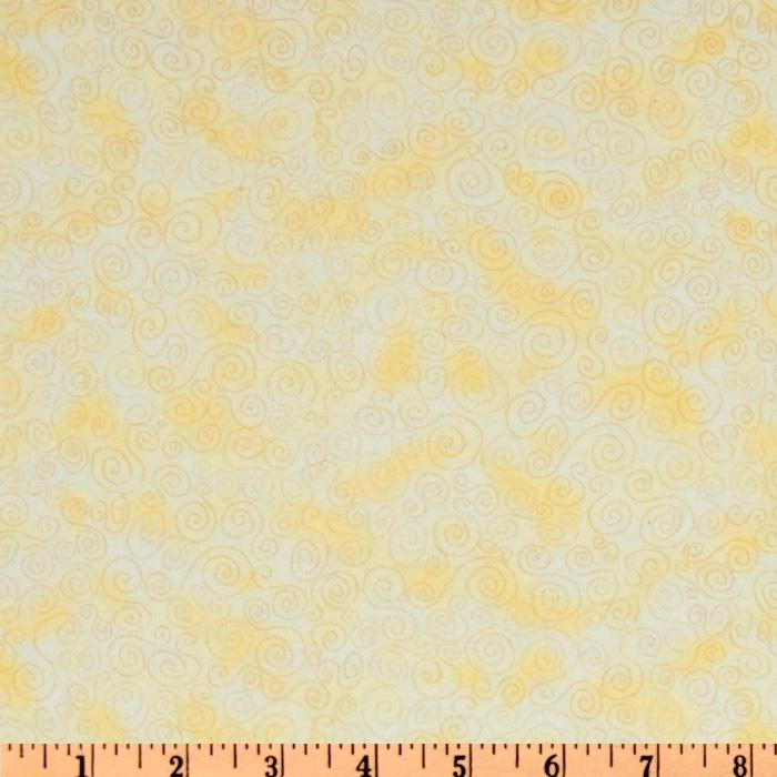 Timeless Treasures Cuddle Flannel Swirls Cream