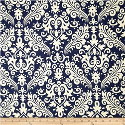 Riley Blake Home Décor Large Damask Navy Fabric