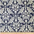 Riley Blake Home Décor Large Damask Navy