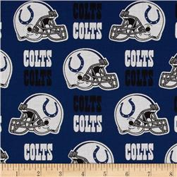 NFL Cotton Broadcloth Indianapolis Colts Blue/White Fabric