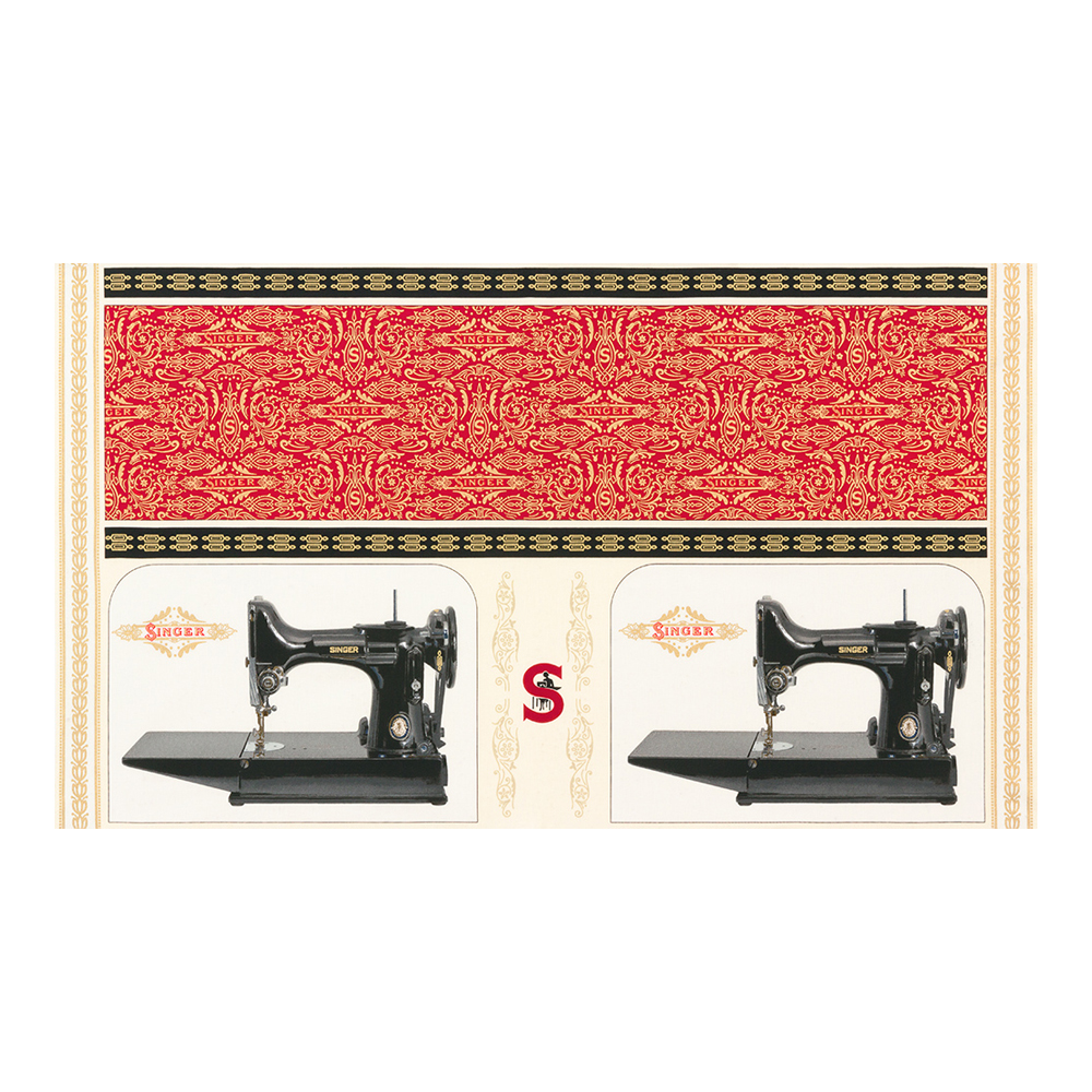 INOpets.com Anything for Pets Parents & Their Pets Robert Kaufman Sewing With Singer 24'' Panel Sewing Machine Antique Fabric
