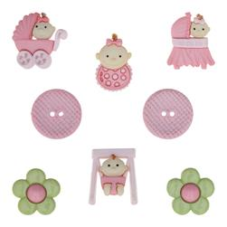 Dress It Up Embellisment Buttons  Baby Fun Girl