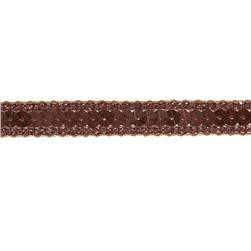 1/2'' Hologram Sparkle Edge Sequin Trim Brown