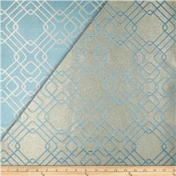 World Wide Rigel Metallic Geo Satin Jacquard Azure