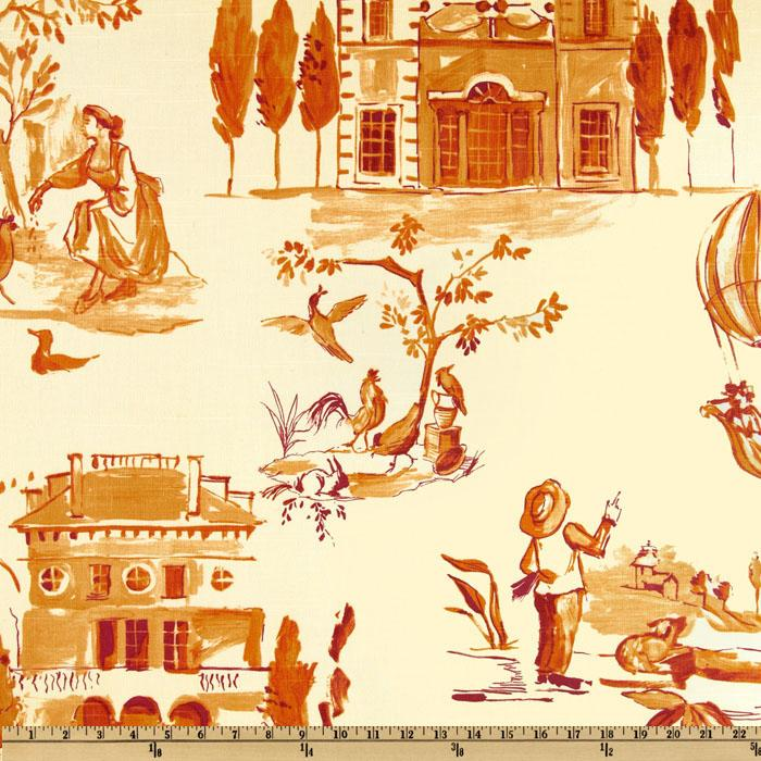 Home Accents Villa Toile Tangerine