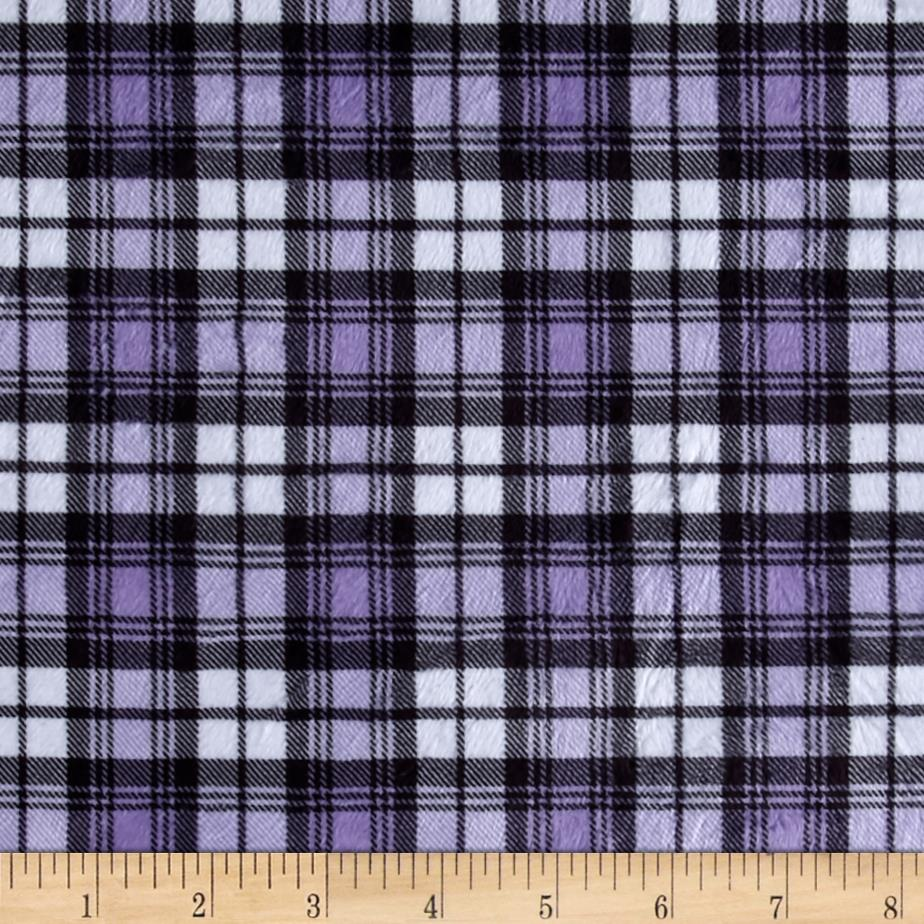 Minky Swatch Plaid Light Purple
